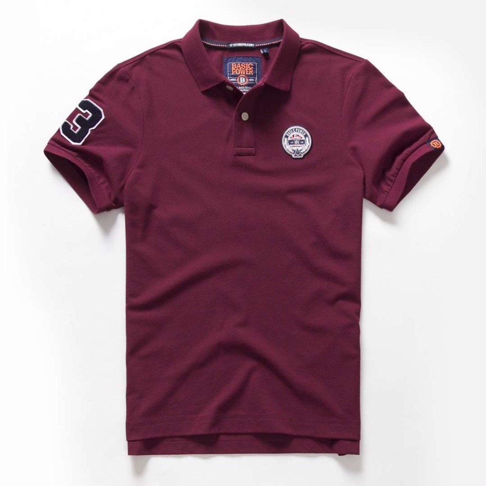 Vomint 2018 Summer Mens Cotton Polo Shirts Short Sleeve
