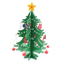 1st 3D Kids DIY Felt Christmas Tree with Ornaments Children Christmas Gifts for New Year Door Wall Hanging Xmas Decoration