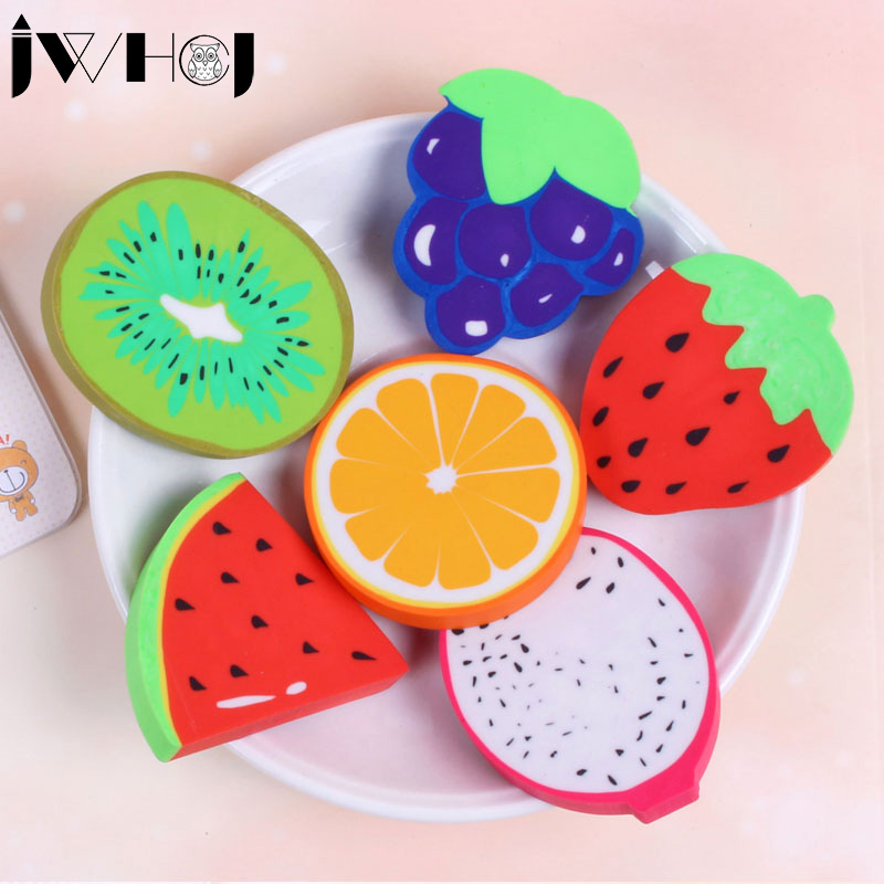 1 Pcs  Novelty Large Fruit Shape Rubber Eraser Creative Kawaii Stationery School Supplies Papelaria Gift For Kids