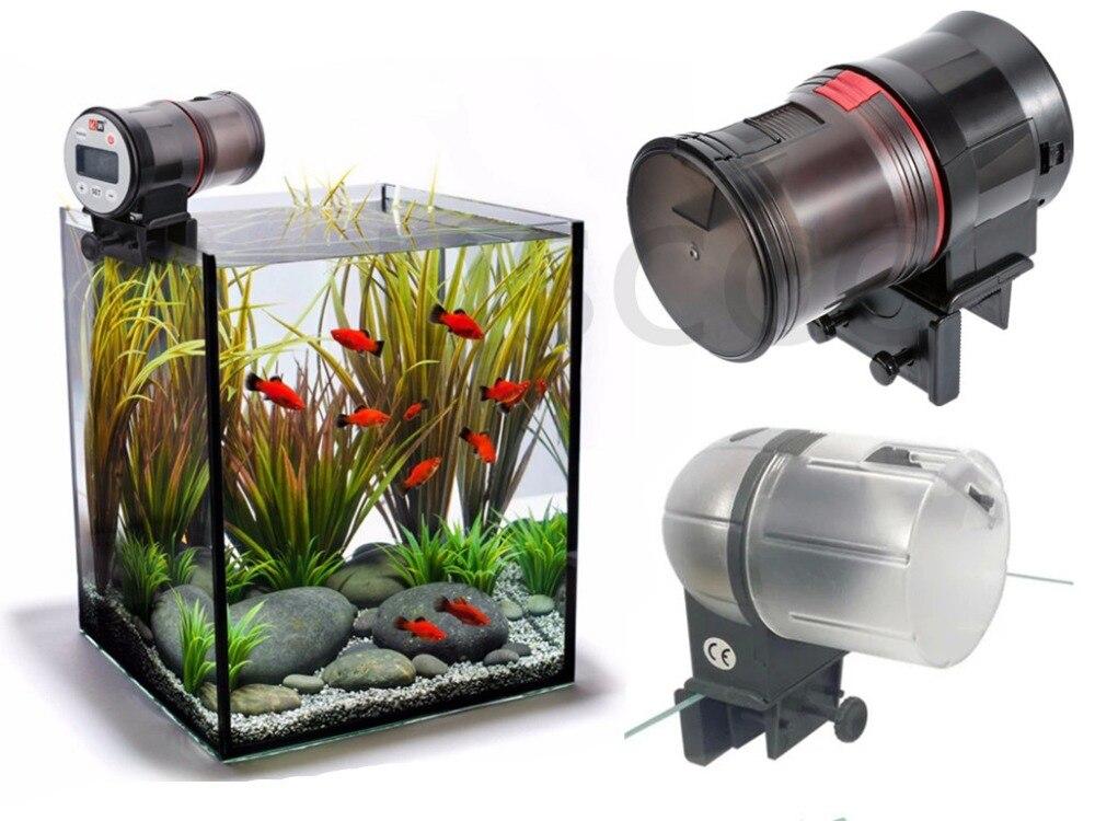 Digital LCD Auto Automatic Fish Food Feeder Pond Aquarium Tank Feeding Timer BA