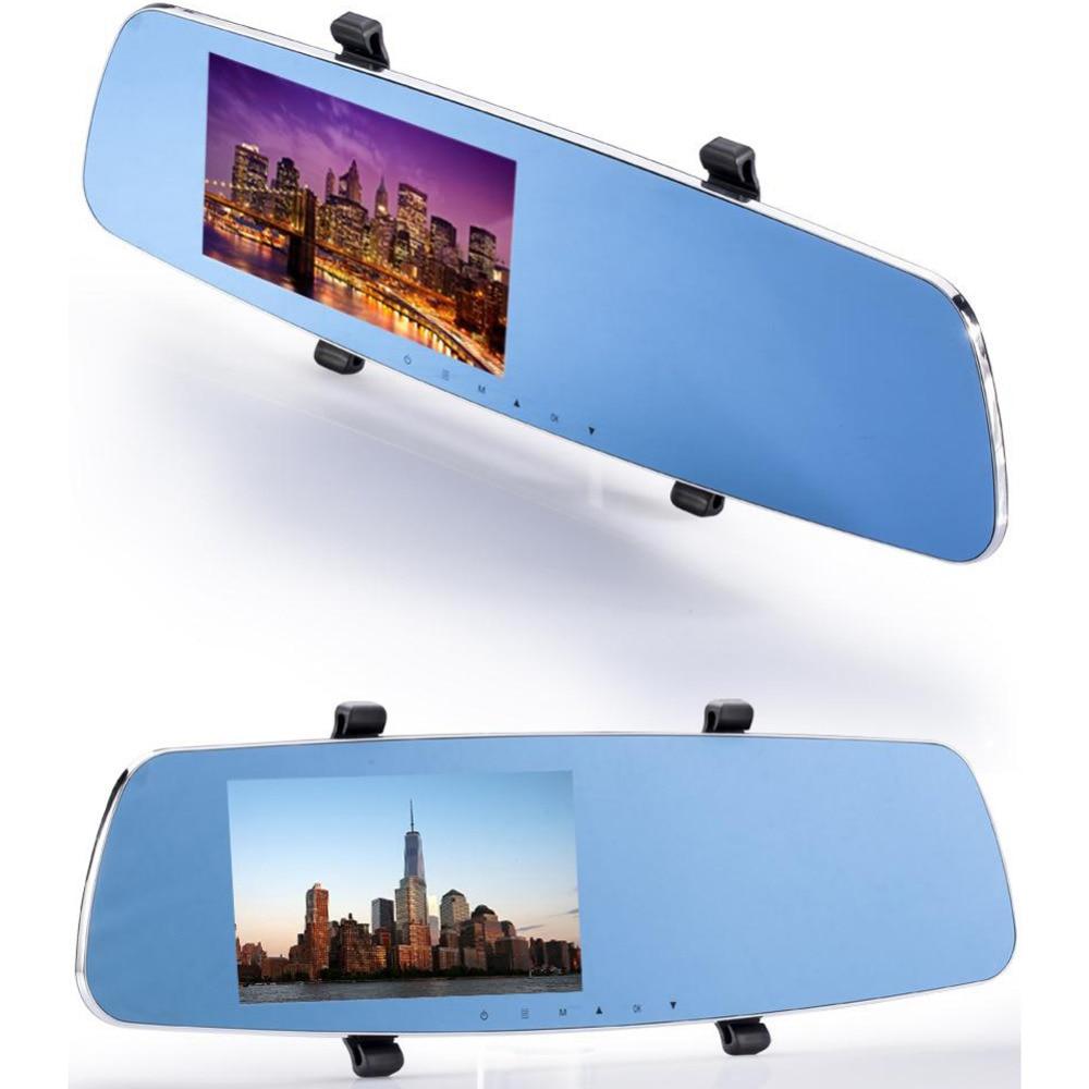 Car Vidieo Mirror Cameral 5.0 Inch Car Rear View Mirror DVR Anti Glare Rearview Mirror Dual Lens NTK96655 Wide-angle Lens SD550