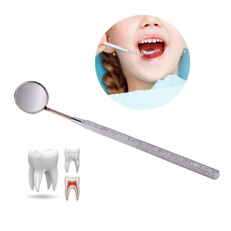 Mini Menangani Gigi Cermin Alat Periksa Instrumen Alat Oral Gigi