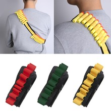 M89CNew Gun Bullet Shoulder Strap Sling 20 Shell Ammo Storage Bandolier Belt Holder Yellow/Red/Green(China)