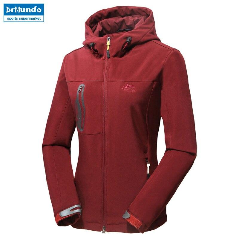 Women soft shell hiking jacket Cross country waterproof elasticity jacket windproof outdoor clothing women Mountaineering jacket