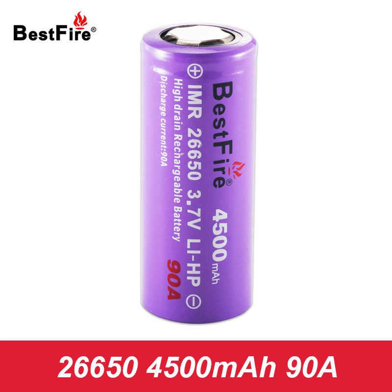 26650 Baterai Isi Ulang 3.7 V Baterai Lithium 4500 M Ah 90A 26650 LED Senter Baterai Vs INR 26650 untuk Mech Kotak mod A304
