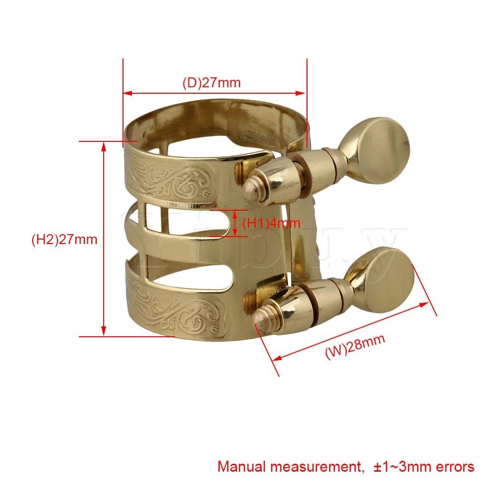 Yibuy Gold Plated Alto Saxophone Boquilla Ligadura Flexibilidad - Instrumentos musicales - foto 6