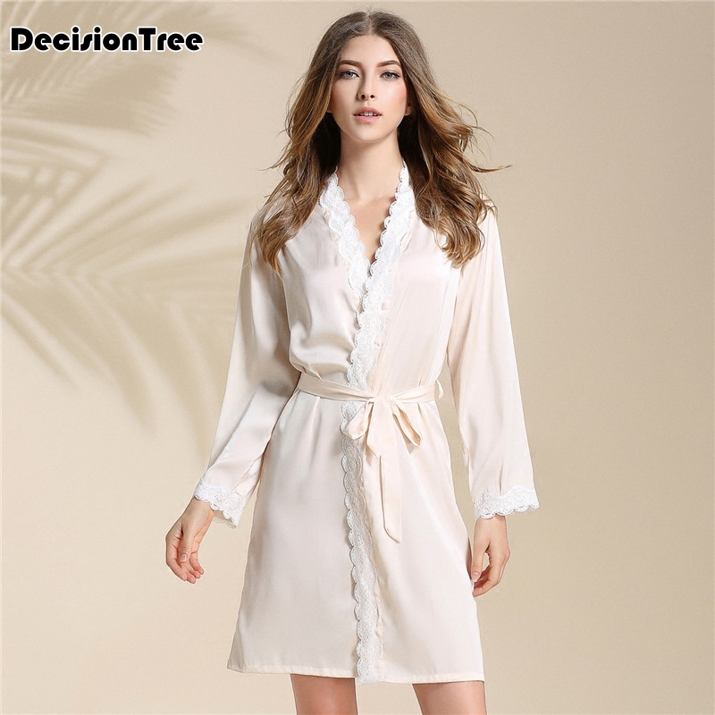 2019 summer sleepwear robe pyjama women robe female nightwear home clothing bathrobe nightdress nightgowns nightie sexy dress