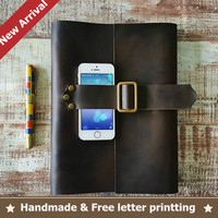 High Quality B5 Vintage Blank Diaries Journals Diary Notebook Notepad Genuine Leather Craft Blank Paper Traveler