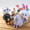 Official The Secret Life of Pets Sticky dog Mike Mike's friends Impatient Damon and Greedy  Cat Chloe 25cm Plush toy dolls