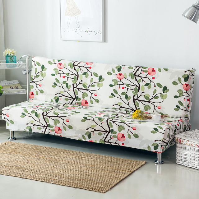 Armless Sofa Bed Cover Folding Seat Slipcover Modern Stretch Covers Cheap Couch Protector Elastic Bench Futon