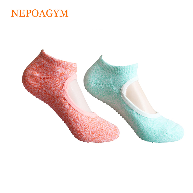 890d287a5b0e6 Nepoagym 3 Paris/Set Size 35-38 Anti-slip Yoga Socks Women Terry Backless  Cotton Non-slip Pilates Invisible