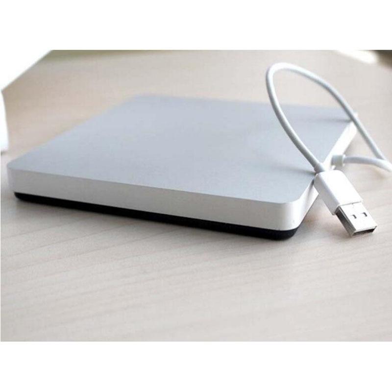 Free Shipping Suction DVD Burner USB2.0 Sucker Recorder Notebook External Drive For Apple Computer External Drive Silver