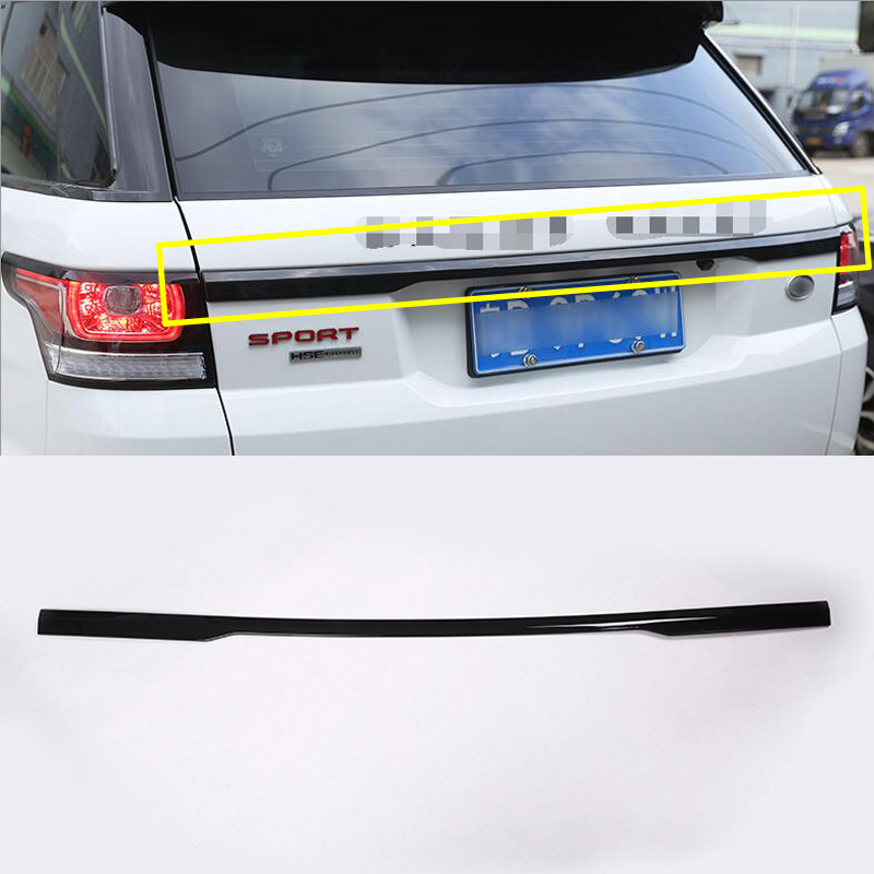 Gloss Black Chrome Car Accessories For Range Rover Sport 2014 2015 2016 2017 Rear Trunk Lid Cover Trim RR Sport car rear trunk security shield cargo cover for ssangyong rexton ii w 2008 2017 high qualit black beige auto accessories