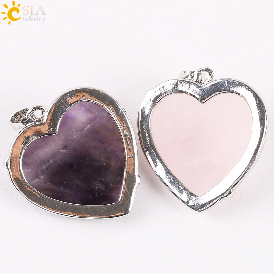 CSJA Heart Gem 2016 New Reiki 7 Chakra Բնական Քարի - Նորաձև զարդեր - Լուսանկար 6