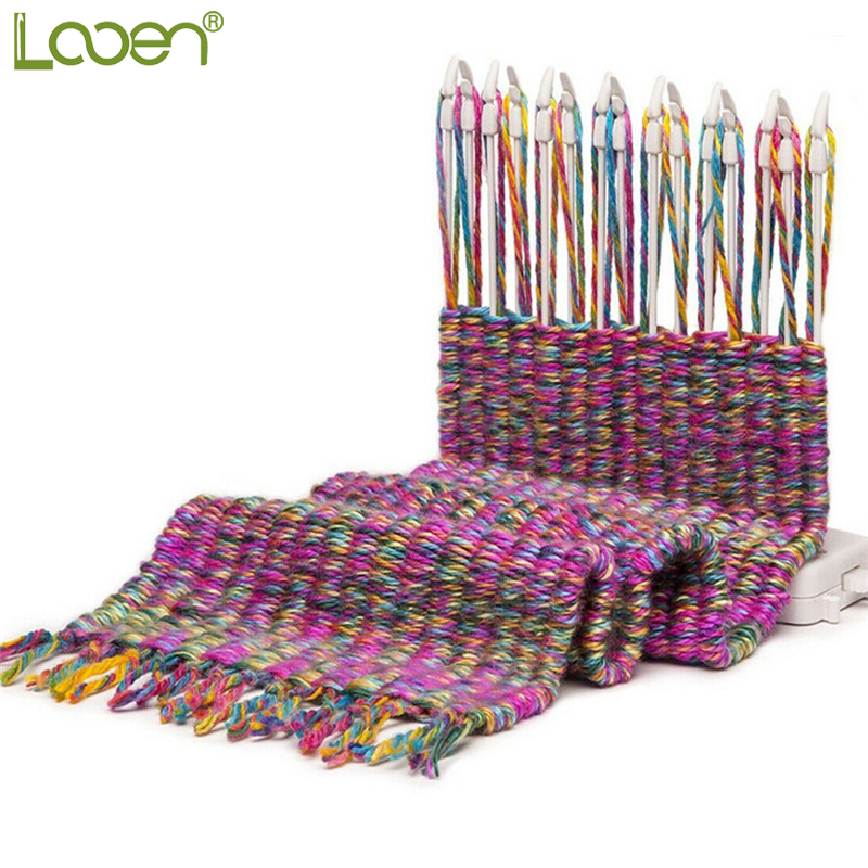 US $15 49 49% OFF|New Manual Scarf Weaving Knitting Machine Knitting Loom  Knit With Knitting Wool Yarn Children Educational Toys Craft Needlework -in