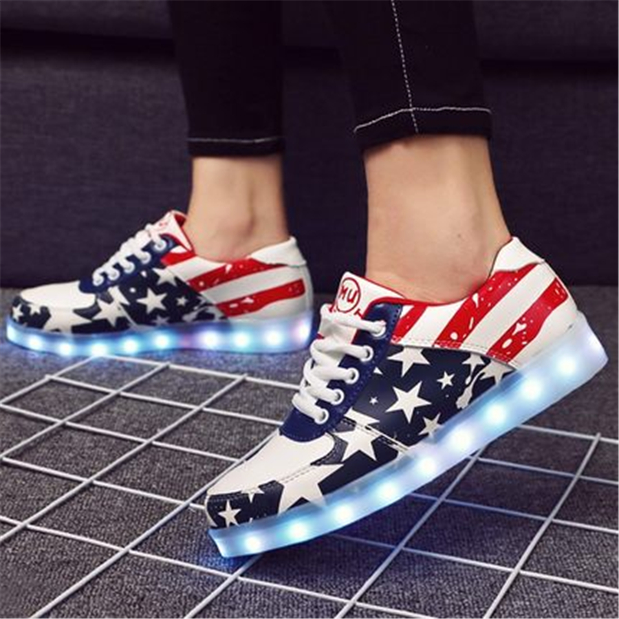 Boys And Girl Led Luminous Sneakers Casual Shoes Sapato Feminino Led Lights For Shoes Sole Children Sneakers Usb 506049 baby girl prewalker shoes infant girl mikey sneakers mouse flower pink soft sole pram shoes sapato infantil menina zapatos bebes