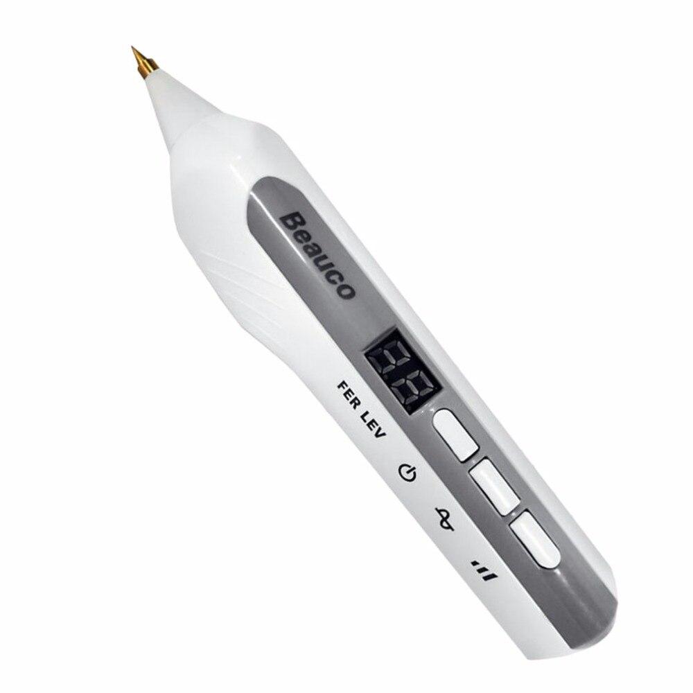 Dispositivo de belleza 3 conmutable modos pecas láser Dot Mole eliminación Sweep Spot Pen Anti-envejecimiento masaje