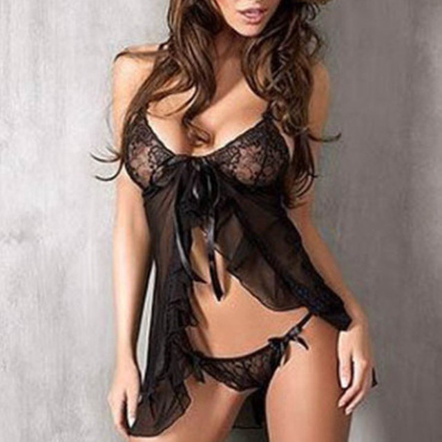 2016 valentine's day sexy lingerie hot black lace deep_v neck teddy sexy underwear erotic lingerie lenceria sexy costumes