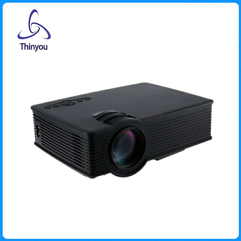 Thinyou  MINI LED Micro Projector Full HD For Media Player Home Theater Business Portable High Definition LCD Proyector mini portable multimedia player dvd player home theater projector led proyector