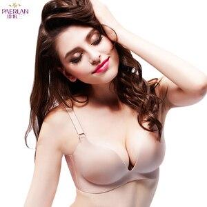 Image 1 - PAERLAN Patent bra under the Yiyilan no steel ring seamless zero bound one piece gather comfort fall Lingerie Women underwear