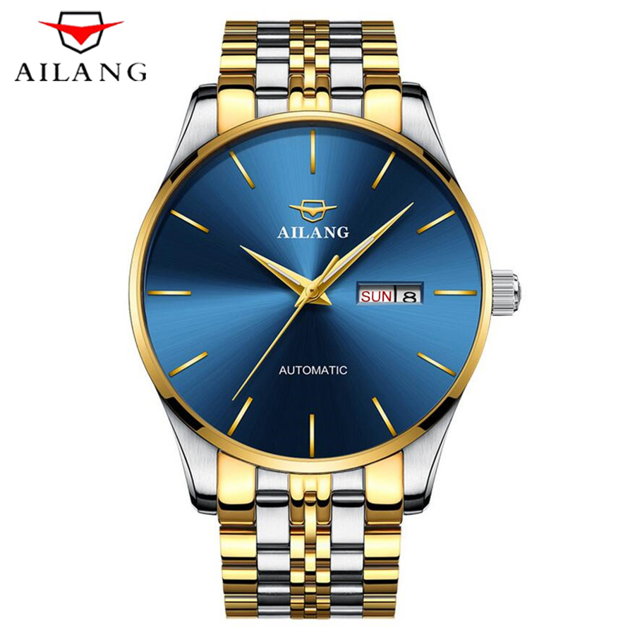AILANG New Mens Watches Top Brands Luxury Mechanical Watches Stainless Steel Fashion Casual Automatic Watch Support dropshipping|Mechanical Watches| |  - title=