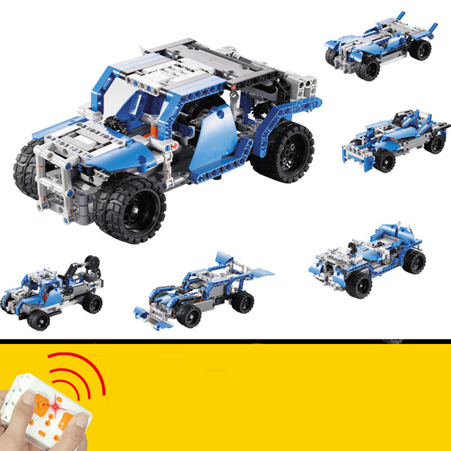 5 in 1 LEPIN Technic Series Blocks Bricks Toys for Child Remote Control Race Cars Model Building Blocks Bricks Toys for Children