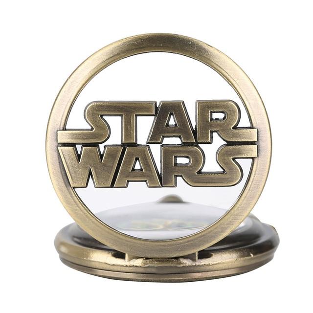 Фото модные часы звездные войны с бронзовым ожерельем кварцевые карманные цена