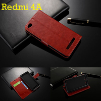 For Xiaomi Redmi 4A Case 5 0 Inch Flip Wallet Genuine Leather Cover For Xiaomi Redmi