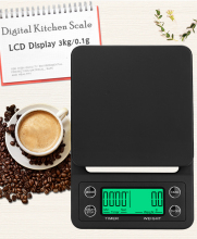 3kg/0.1g Mini Digital Kitchen Scale Food Coffee We