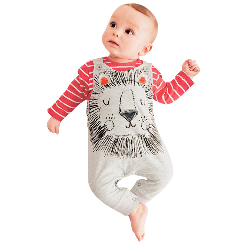 2pcs Newborn Baby Boy Girls Rompers Long Sleeve Cotton Romper Clothes Baby Jumpsuit Baby Unisex Animal Infant Boy Girl Clothing fashion baby clothes cartoon baby boy girl rompers cotton animal and fruit pattern infant jumpsuit hat set newborn baby costumes