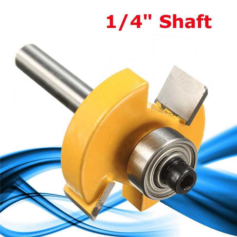 Hard Alloy Yellow Silver T Type Knife Slotted 1/4 Rabbeting Router Bit 1/4 Tool High Abrasion Resistance dynavox t 30 silver
