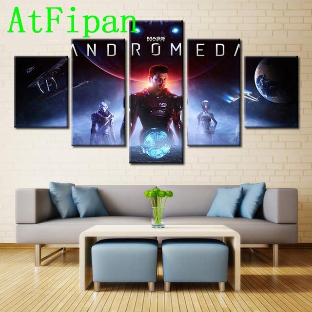 AtFipan Modular Pictures 5 Pieces Game Mass Effect:Andromeda Wall ...
