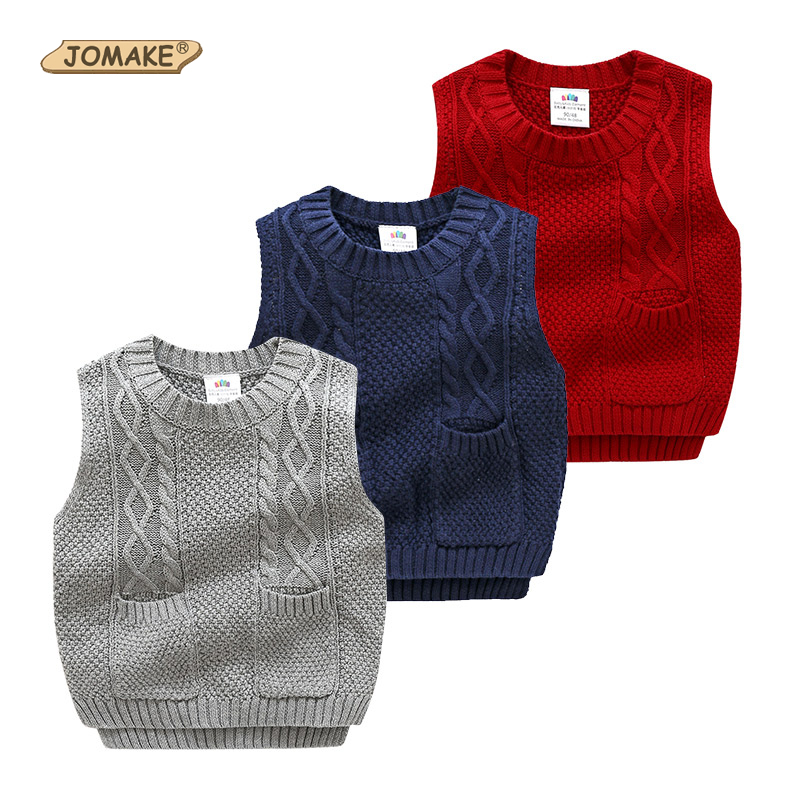552111a9 JOMAKE New Fashion Brand Kids Boys Pullover Knitted Vest Coat Girls Crochet  Cotton Vest Children Top Quality Sleeveless Sweaters