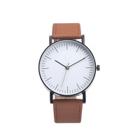 Relojes Women Retro Design Leather Band Analog Watch Men's Sports Clock Simple Dial Quartz Wrist Watches Relogio Feminino #LH