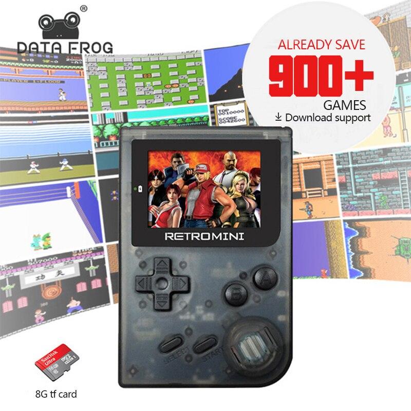 Données Grenouille De Poche 32Bit Jeu Console Rétro Style Mini Jeu Lecteur Intégré Pour GBA/NEO Classique Jeux Cadeau Pour enfant