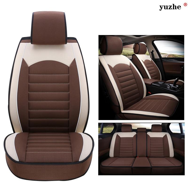 Yuzhe Linen Car Seat Cover For Audi A6L Q3 Q5 Q7 S4 A5 A1