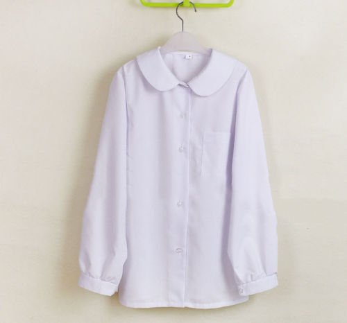 a7a6d1f62a5203 Cute Japanese School Uniform Style Girls French Toast JK Blouse Long Sleeve  Peter Pan Collar Uniform Shirt Tops-in Blouses & Shirts from Women's  Clothing on ...