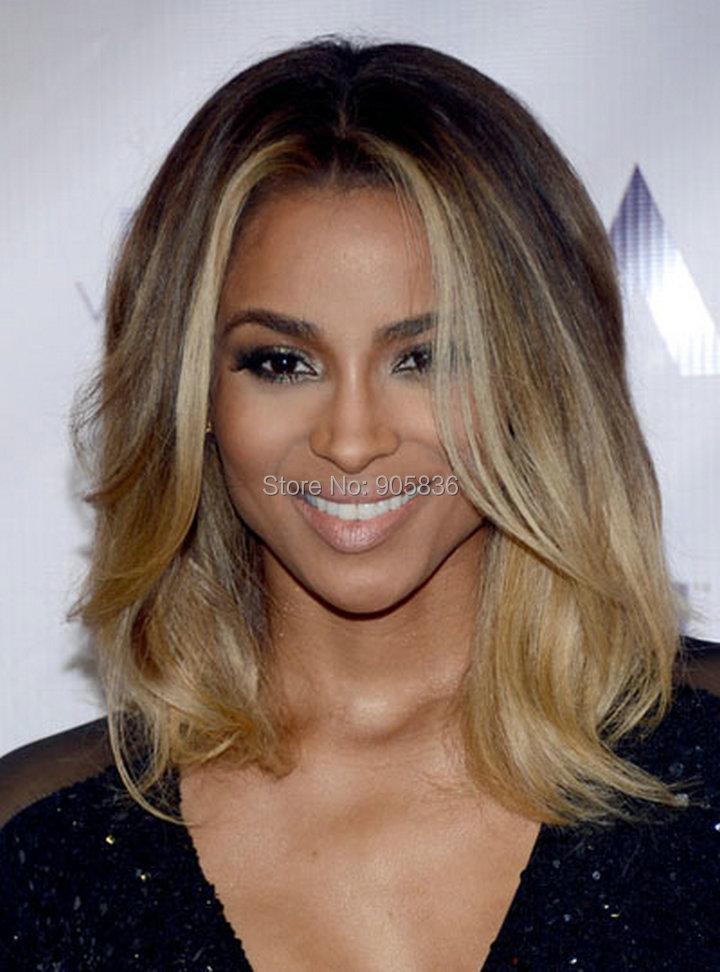 Ciara Medium Brown Highlight Blonde Two Tone Loose Wavy Remy Hair