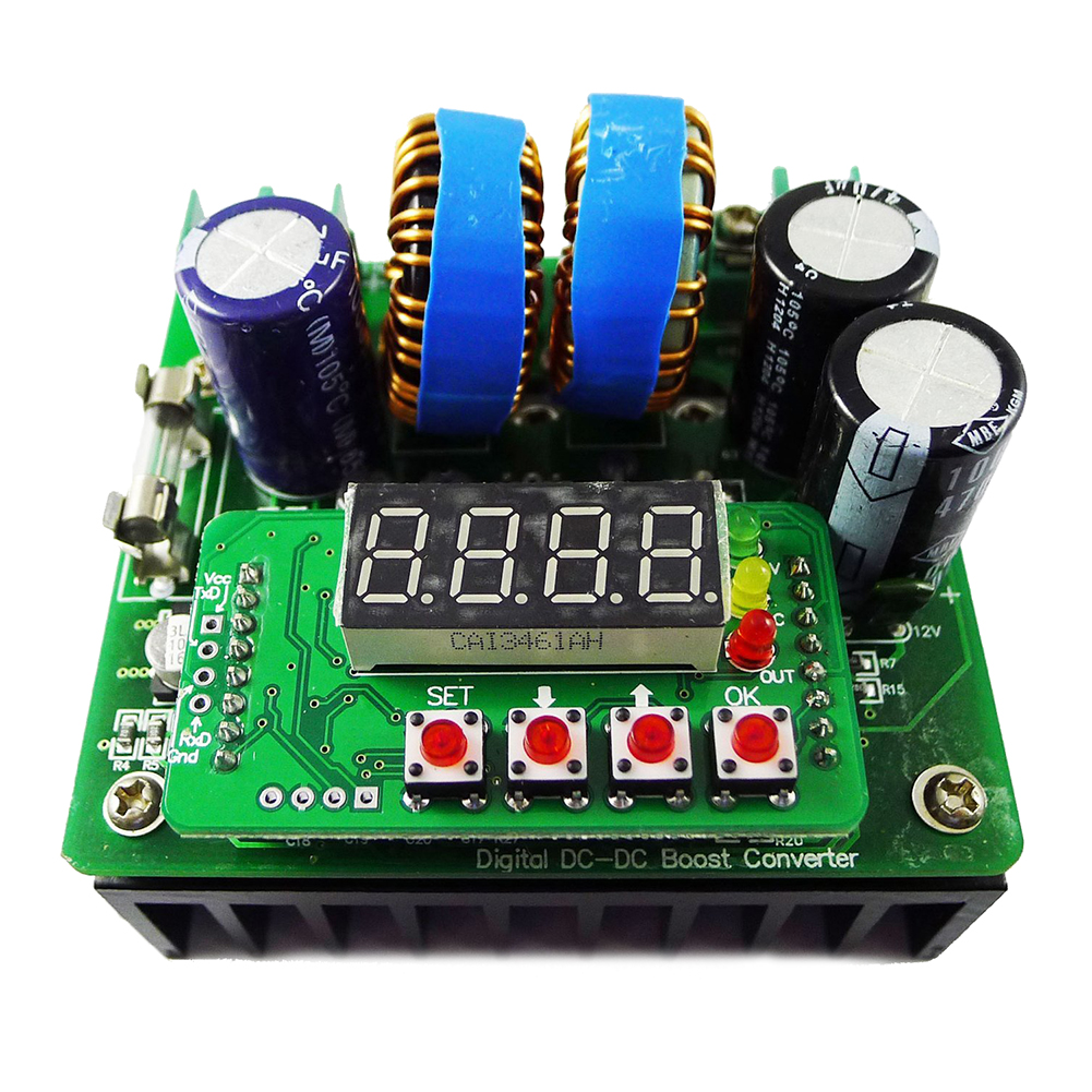 JFBL Hot DC to DC Step up converter 6-40V to 8v-80v 400W 10A Digital-controlled Power Supply