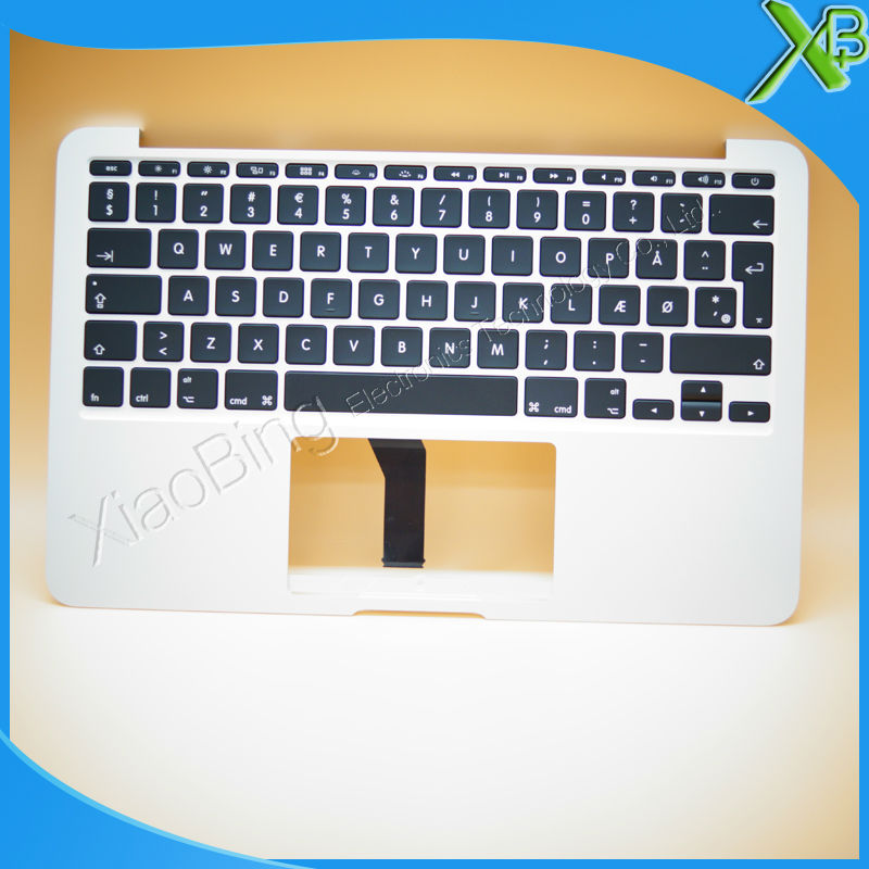 New TopCase with DK Danmark Danish Keyboard for MacBook Air 11.6 A1465 2013-2015 years new topcase with no norway norwegian keyboard for macbook air 11 6 a1465 2013 2015 years
