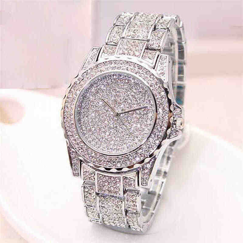 Women Ladies Bling Diamonds Crystal Strap Watch Fashion Luxury Stainless Steel Analog Quartz WristWatches gift relogio feminino
