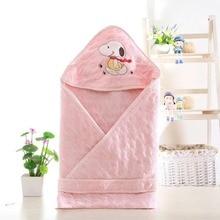 Summer Baby Sleeping Bag Newborn Baby Blanket Cotton Soft Envelop Swaddle Ropa Bebe Blankets Infant Hoodle Kids Sleepsack цена
