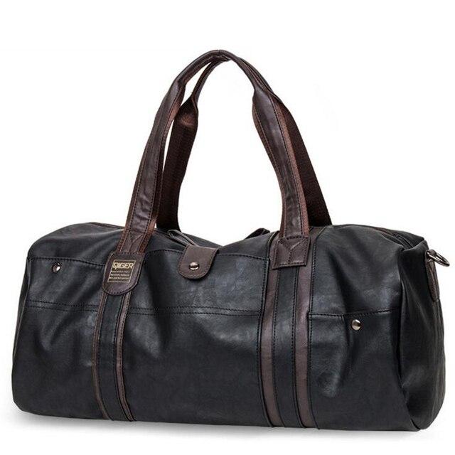 New Fashion Large-Capacity Drum Type Man Travel Handbag Casual PU Women Messenger Bag Brand Bottles Single Shoulder Bag B139
