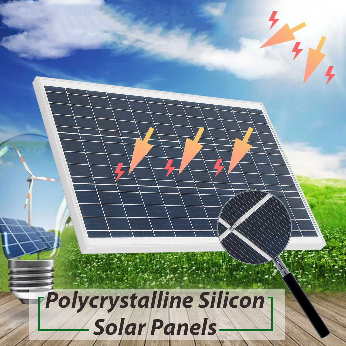 KINCO 50w 18v Polycrystalline Silicon Solar Panel With Glass Bearing Plate Suitable For Different Solar Applicances Supply