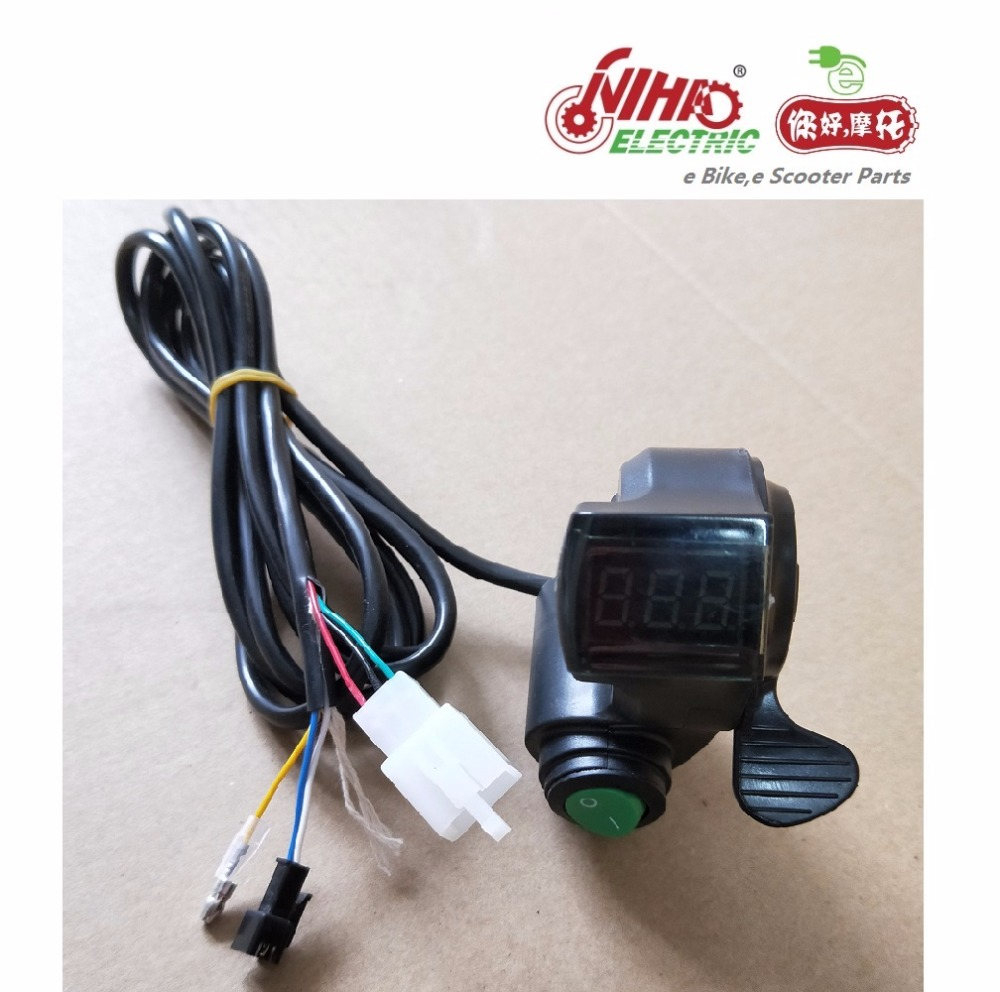 26 E BIKE Thumb Throttle with LCD Digital Battery Voltage Display ...