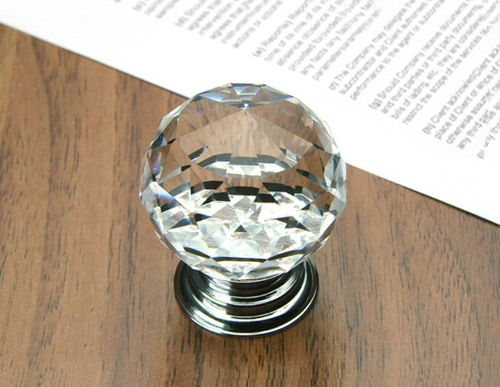 kitchen cabinet door knobs placement crystal glass font chrome lowes ebay