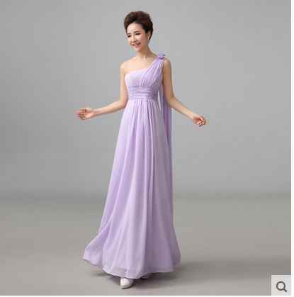 0bcb667fd3 vestidos madrinha 2019 new chiffon a line Light Purple Champagne abiti da  cerimonia donna lungo plus size dresses under $50
