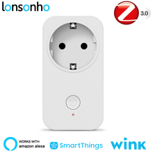 Lonsonho Zigbee Smart Plug Smart Socket EU Outlet Works With Echo Alexa Smartthings Wink Hub Smart Home Automation wall socket home security alexa compatible surge protection zigbee home automation solution smart metering plug