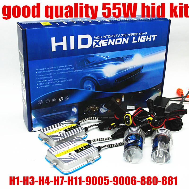 9005 HB3 9006 HB4 H1 H3 H7 H8 H9 H11 881 880 55W H4 Car HID Xenon conversion kit 4300k 6000k 8000k
