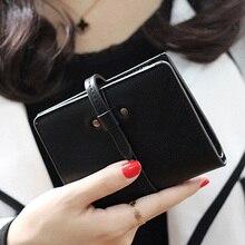 2017 Brand Matte PU Leather Wallet Women Vintage short Cion Purse women Wallets High quality carteira feminina